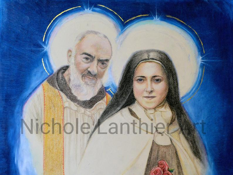 St Padre Pio and St Therese